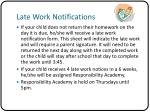 late work notifications