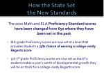 how the state set the new standards