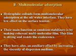b multimolecular adsorption