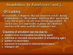 instabilities in emulsions con2