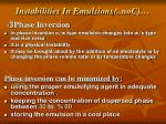 instabilities in emulsions con3