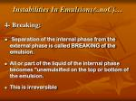 instabilities in emulsions con4
