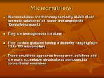 microemulsions