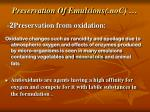 preservation of emulsions con