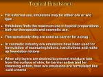 topical emulsions