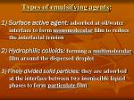 types of emulsifying agents