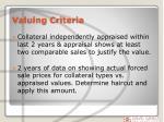 valuing criteria