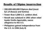 results of filipino insurrection