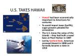 u s takes hawaii