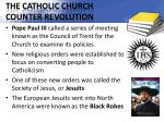the catholic church counter revolution