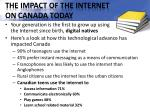 the impact of the internet on canada today