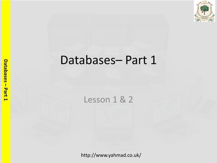databases part 1 n.
