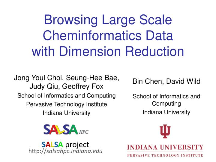 browsing large scale cheminformatics data with dimension reduction n.