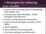 7 strategies for reducing peer cruelty