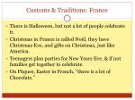 customs traditions france