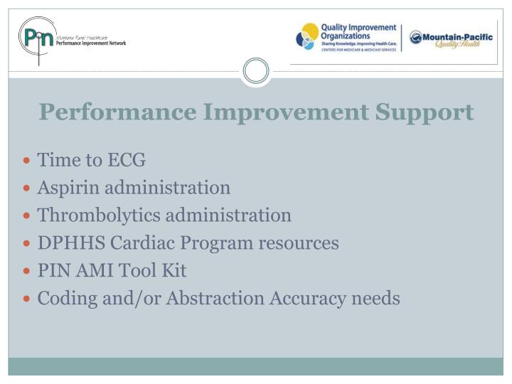 Performance Improvement Support