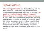 setting evidence