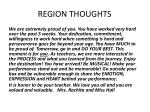 region thoughts