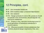 12 principles cont