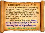 ephesians 1 9 11 niv
