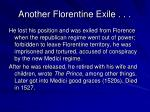 another florentine exile