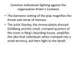 common individuals fighting against the organisation pinter s contexts