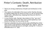 pinter s contexts death retribution and terror