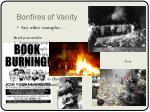bonfires of vanity