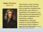 isaac newton 1642 1727