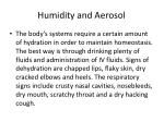 humidity and aerosol