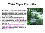 water vapor correction1