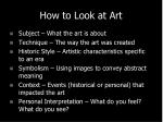 how to look at art1