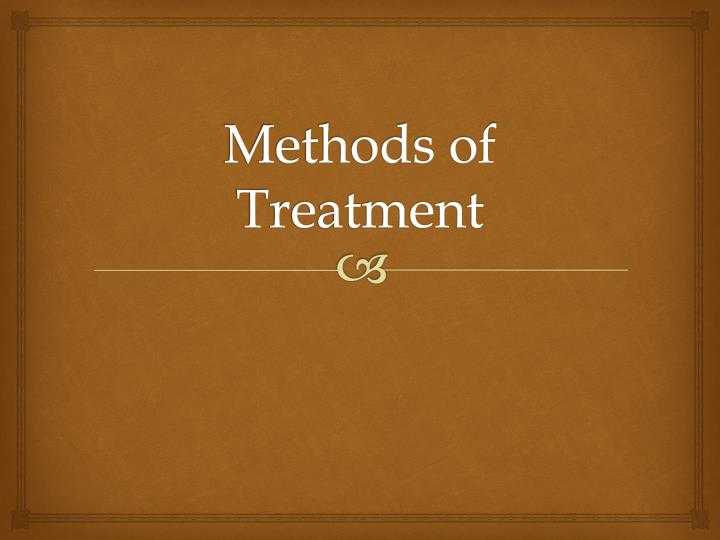 methods of treatment n.
