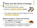 there are two forms of energy