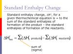 standard enthalpy change