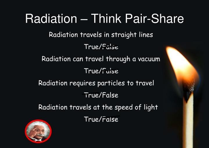 Radiation – Think Pair-Share