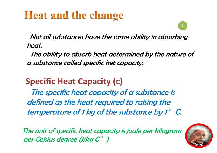 Heat and the change