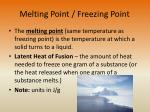 melting point freezing point