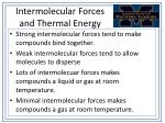 intermolecular forces and thermal energy