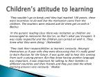 children s attitude to learning