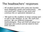 the headteachers responses