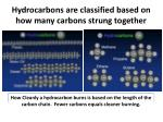 hydrocarbons are classified based on how many carbons strung together