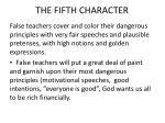 the fifth character