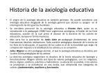 historia de la axiolog a educativa
