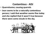 contentious adj