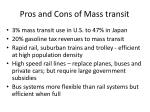 pros and cons of mass transit
