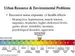 urban resource environmental problems