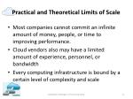 practical and theoretical limits of scale