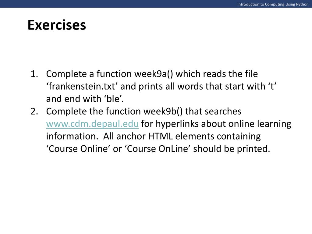 PPT - Introduction to Computing Using Python PowerPoint