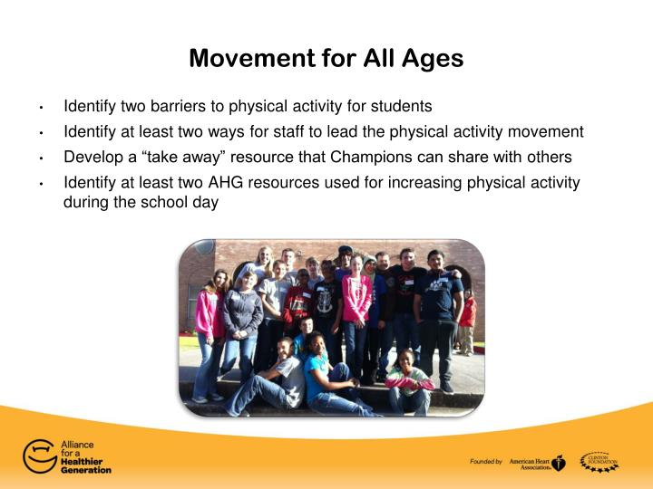 movement for all ages n.